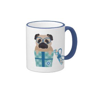 Happy Hanukkah Pug Dog Mug