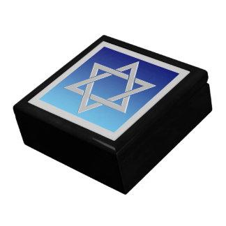 Happy Hanukkah Silver Magen David Gift Box