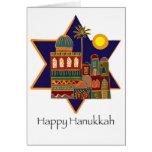 Happy Hanukkah Star Card