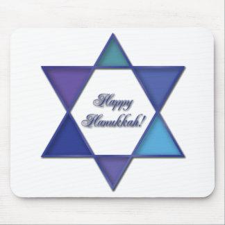 Happy Hanukkah Star of David Mousepad