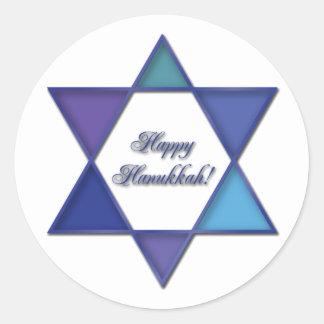 Happy Hanukkah Star of David Sticker