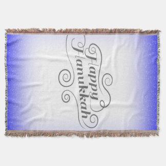 Happy Hanukkah Throw Blanket