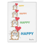HAPPY HAPPY CAT Valentines by Boynton Greeting Card