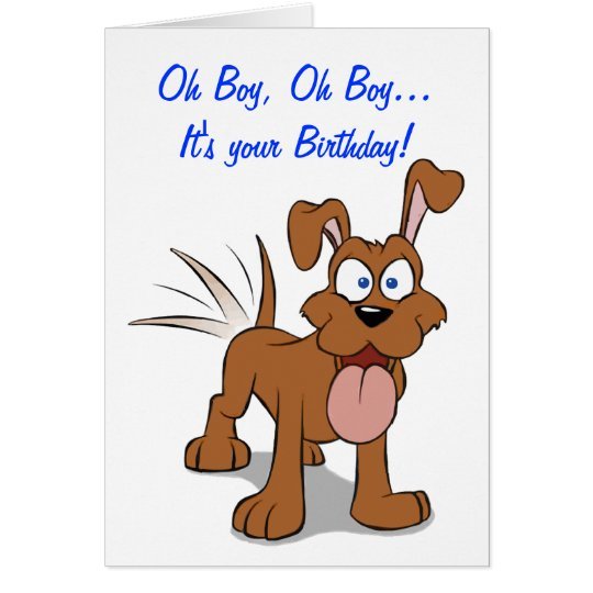 Happy Happy Dog Birthday Card