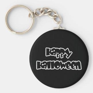 Happy Happy Halloween Basic Round Button Key Ring