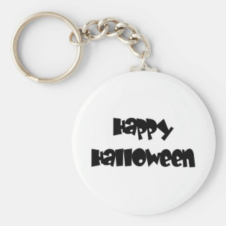 Happy Happy Halloween Basic Round Button Key Ring