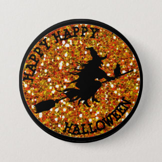 Happy Happy Halloween Witchy Button