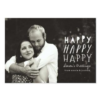 Happy Happy Happy Holiday Photo Card