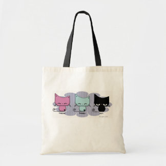 happy. happy. meh. Tote bag