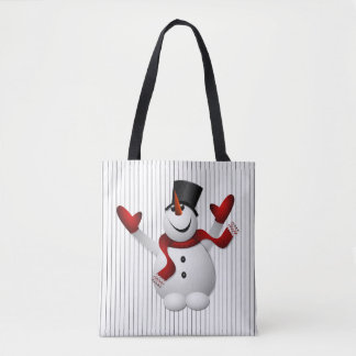 Happy Happy Snowman Christmas Tote Bag