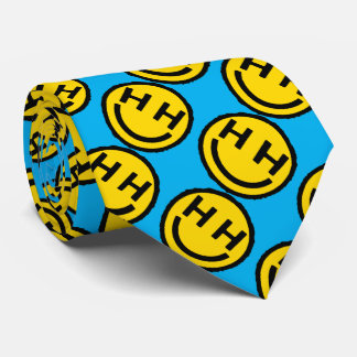 Happy hardcore smiley face novelty tie