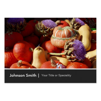 Happy Harvest Pumpkin Gourd Farmer - Photo Image Pack Of Chubby Business Cards
