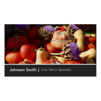 Happy Harvest Pumpkin Gourd Farmer - Photo Image Pack Of Standard Business Cards