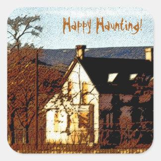 Happy Haunting Halloween Sticker template