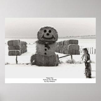 Happy Hay, Highway 50, Nevada Poster
