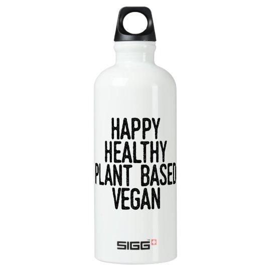 Happy Healthy Plant Based Vegan (blk) Water Bottle
