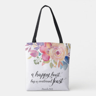 Happy Heart All Over Print Bag Tote Bag