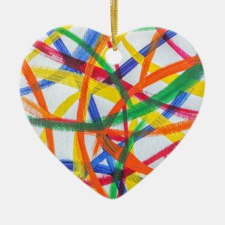 Happy Heart Ceramic Holiday Ornament