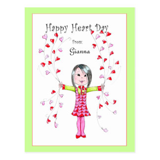 Happy Heart Day postcard