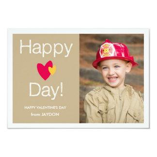 Happy Heart Day Valentine Photo Card Personalized Invites