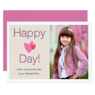 Happy Heart Day Valentines Photo Card 9 Cm X 13 Cm Invitation Card