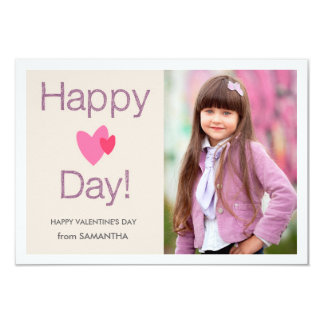 Happy Heart Day Valentines Photo Card 9 Cm X 13 Cm Invitation Card