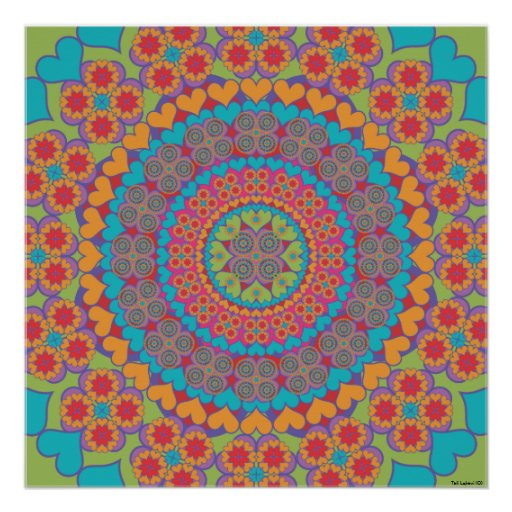 Happy Heart Mandala 1 Poster