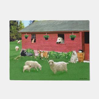 """""""Happy Hearts Farm"""" Doormat"""
