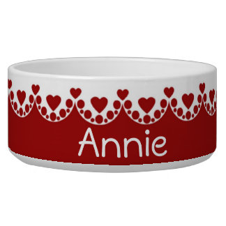 Happy Hearts on Red Personalized