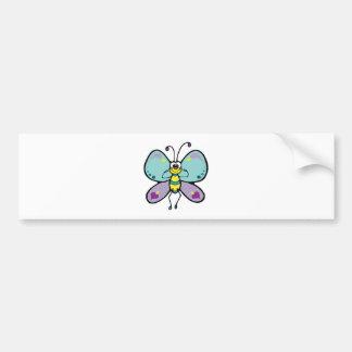 happy hearts pastel butterfly bumper sticker