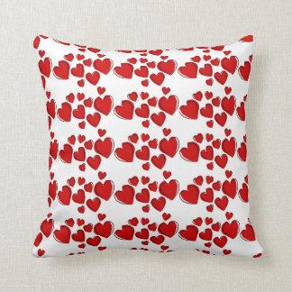 Happy Hearts Throw Pillow Cushions