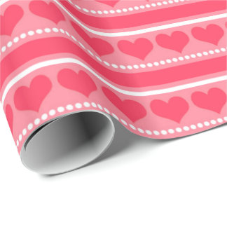 Happy Hearts Wrapping Paper