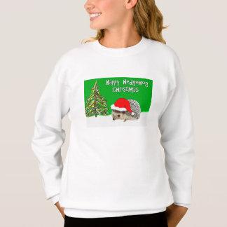 Happy Hedgehog Christmas Sweatshirt for Kids