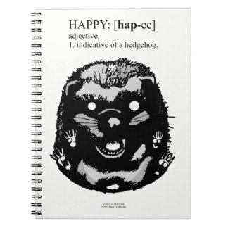 Happy Hedgehog Notebook