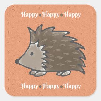 Happy Hedgehog Stickers