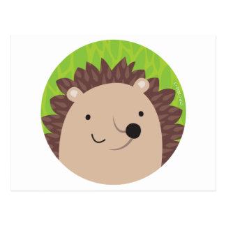 Happy Hedgehog - Woodland Friends Postcard
