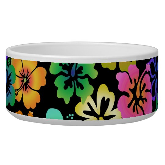 Happy Hibiscus Dog Water Bowls