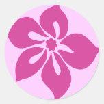 "Happy Hibiscus"" Sticker in Fuchsia"