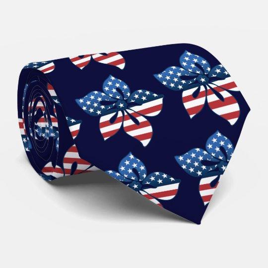 Happy Hibiscus USA Necktie