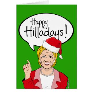 Happy Hilladays! Greeting Card