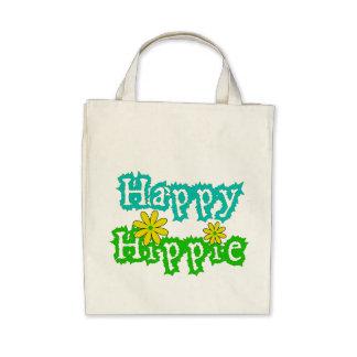 Happy Hippie Canvas Bags
