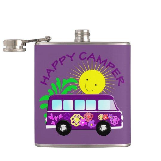 Happy Hippie Camper Van Fun Colourful Graphic Hip