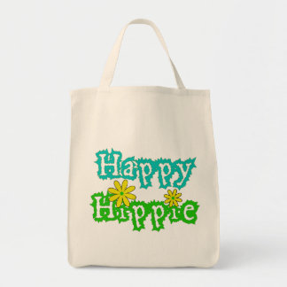 Happy Hippie Grocery Tote Bag