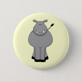 Happy Hippo 6 Cm Round Badge