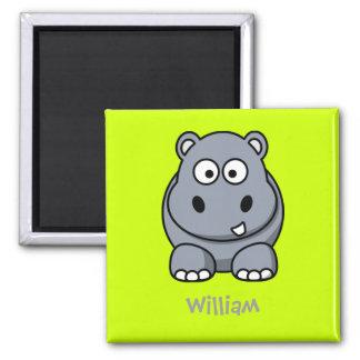 Happy hippo magnets