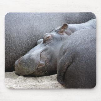 Happy hippo mousemat