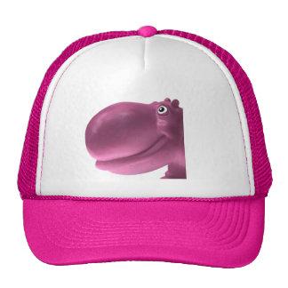 Happy Hippo Pink Mesh Hats