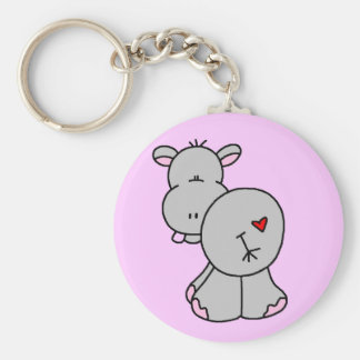Happy Hippo Tshirts and Gifts Key Ring