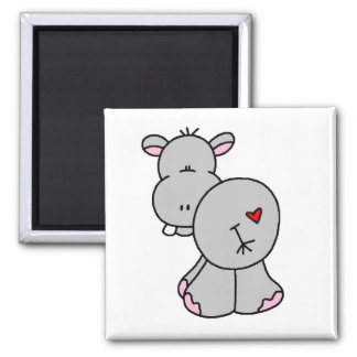 Happy Hippo Tshirts and Gifts Magnet