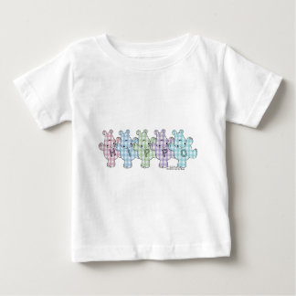 Happy Hippos pastel gingham Baby T-Shirt